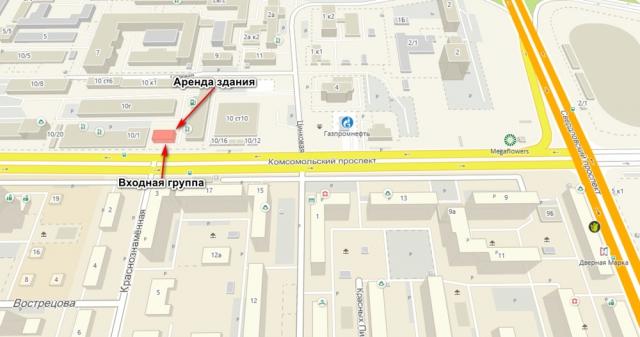 Комсомольский проспект, 10 700.00 кв.м. Свободного назначения Аренда